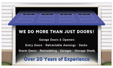Garage Door Repair, Openers, Entry and Storm Doors, Remodeling Services